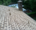 Shingles on new roof by J.Montes, Inc.